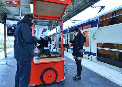Triporteur Relay gare de Gagny